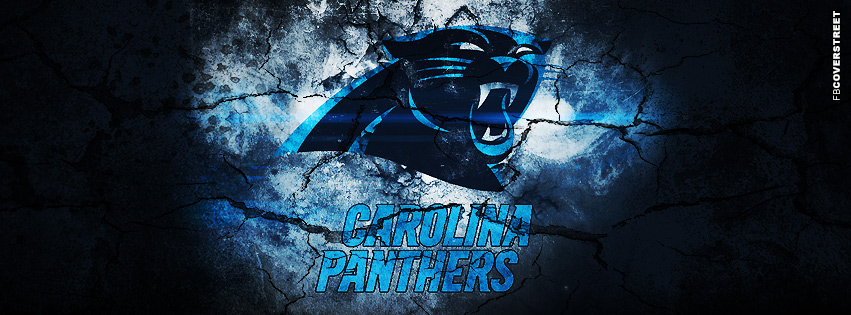 Carolina Panthers Grunged Logo Facebook Cover