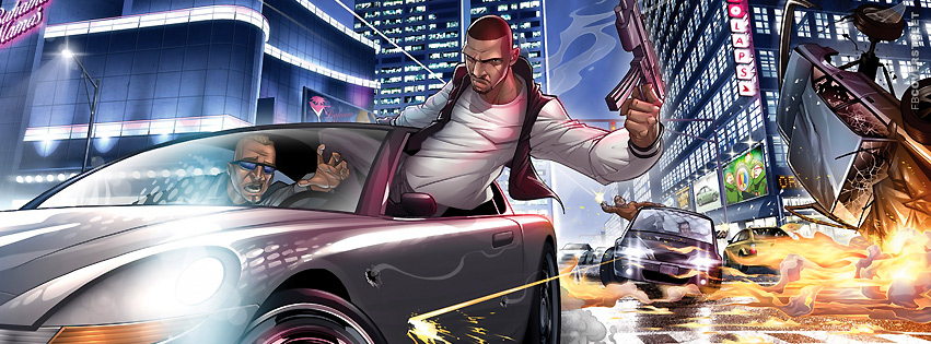 GTA 4 Ballad of Gay Tony Patrick Brown Artwork  Facebook cover