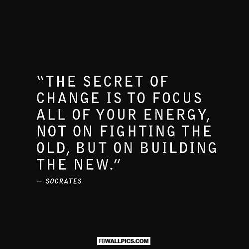 The Secret To Change Socrates Quote Facebook picture