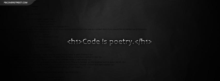 Code Is Poetry Facebook Cover