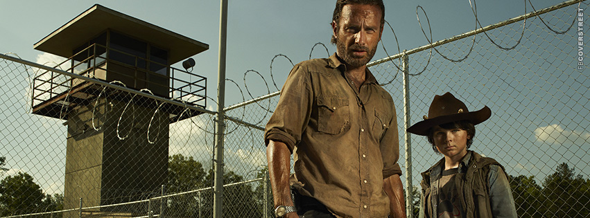 Rick Grimes and Carl Grimes Cover Photo The Walking Dead  Facebook Cover