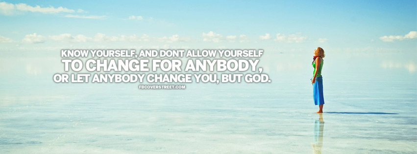 Know Yourself Quote Facebook cover