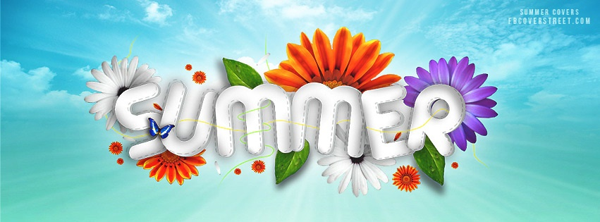 Summer Cool Text Facebook cover