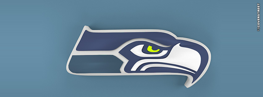 Seattle Seahawks 3D Logo  Facebook Cover