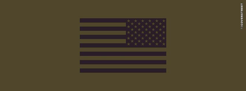 Backwards US Flag  Facebook Cover