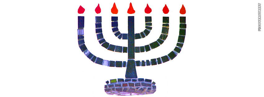 Menorah Hanukkah Artwork  Facebook cover