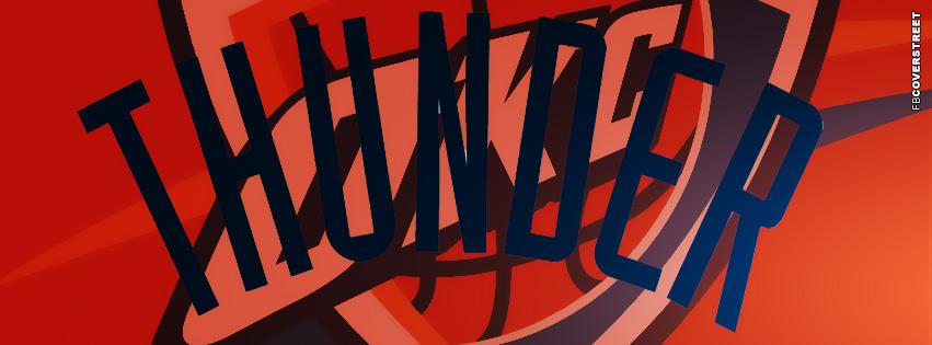 Oklahoma City Thunder Logo Facebook Cover  Facebook cover