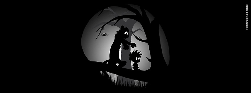 Calvin and Hobbes Spooky  Facebook cover