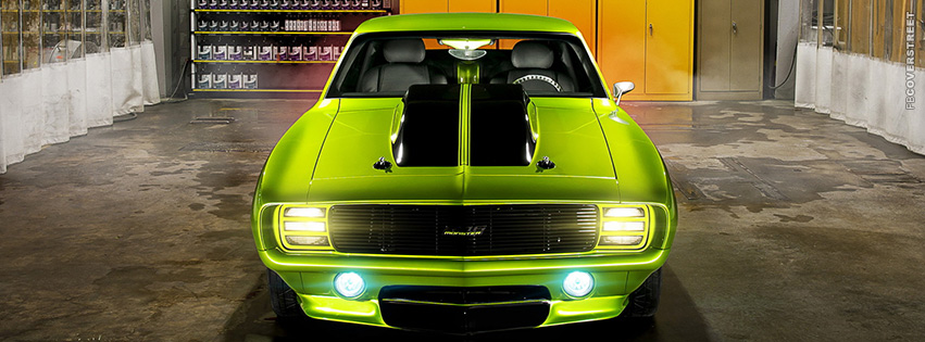 Chevrolet Camaro Lime Green In Paint Shop  Facebook cover