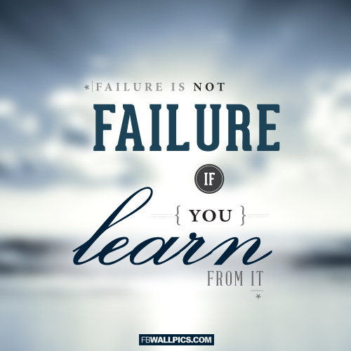 Learning From Failure Quote  Facebook picture