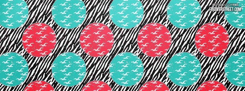 Zebra Print Birds Pattern 1 Facebook Cover