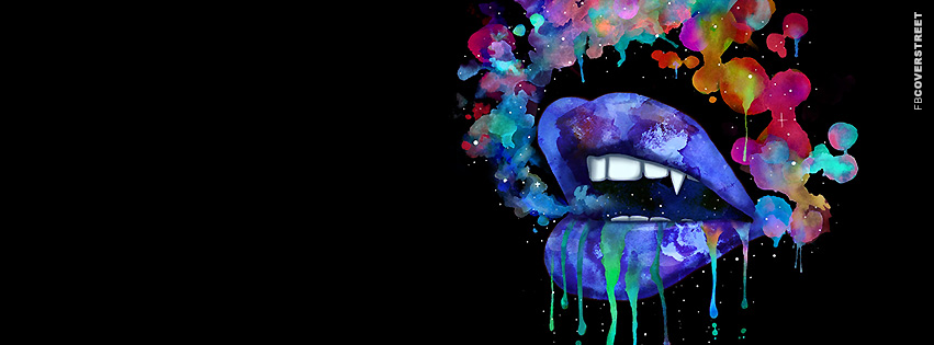 Colorful Lip Smoke Facebook Cover - FBCoverStreet.com