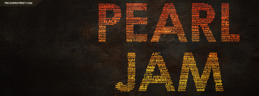 Pearl Jam Typography Facebook Cover