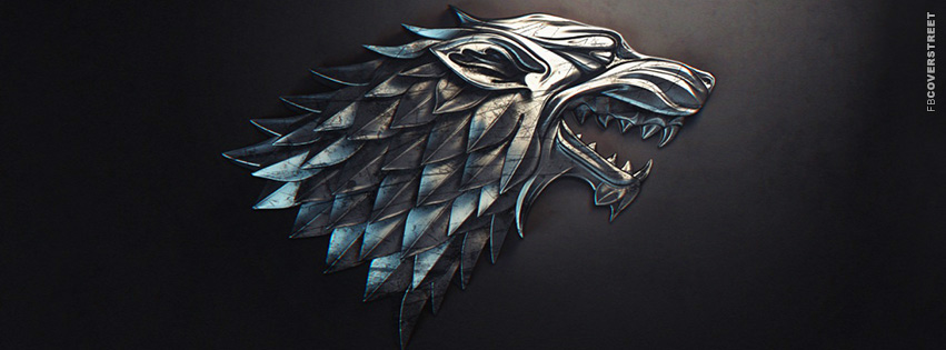 House of Stark Emblem Game of Thrones Facebook cover