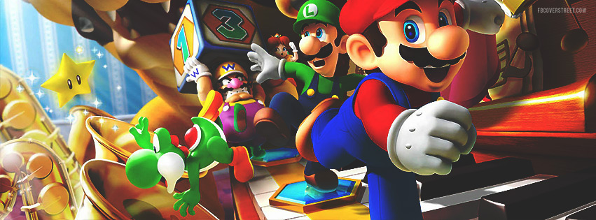 Super Mario HD Video Game Facebook Cover