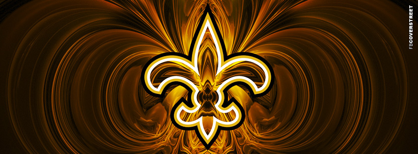 New Orleans Saints Fleur De Lis Logo NFL  Facebook cover