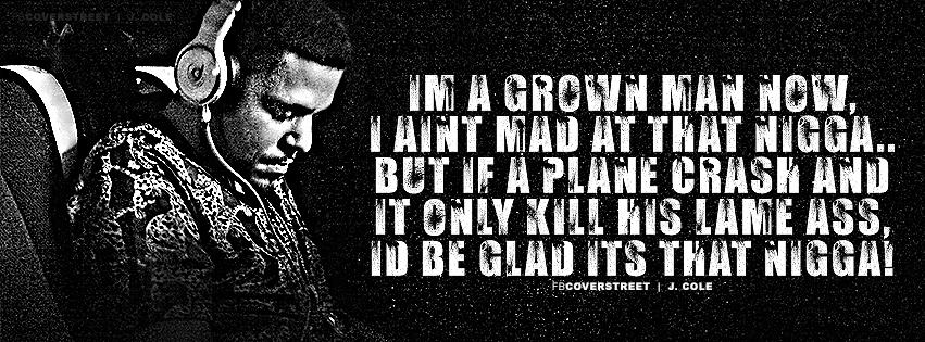 J Cole Rich Niggaz Lyrics Quote Facebook Cover - FBCoverStreet com