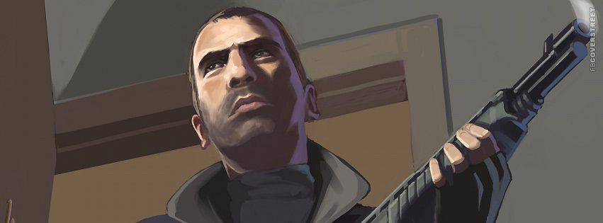 Niko Bellic Grand Theft Auto 4 Facebook cover