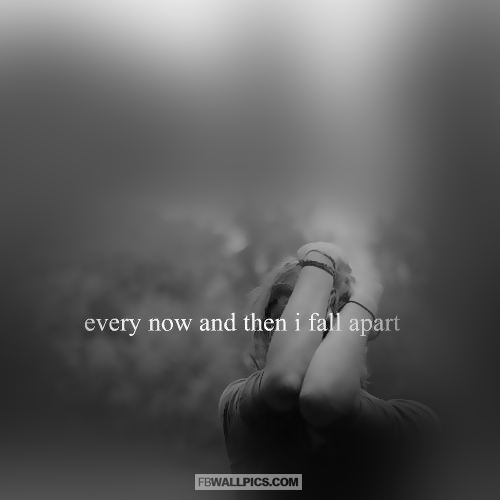 Every Now and Then I Fall Apart Girly Quote  Facebook Pic
