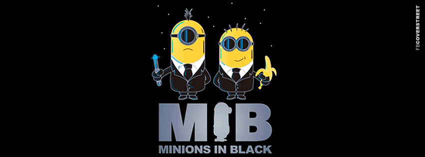 Minions In Black  Facebook cover