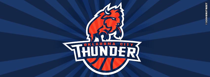 Oklahoma City Thunder Sunray Logo  Facebook Cover