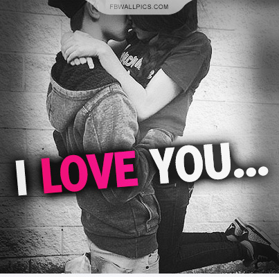I Love You Kissing Quote Facebook picture
