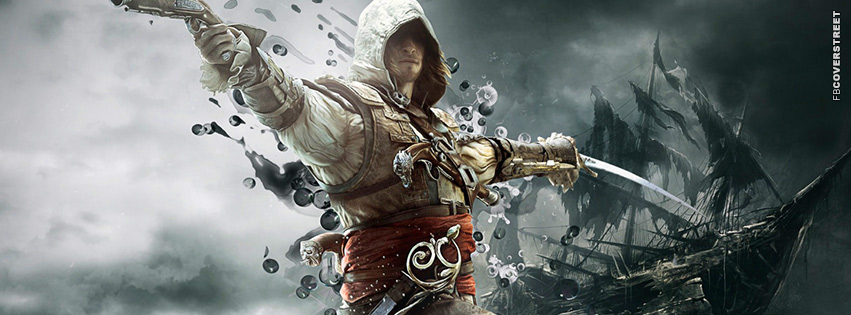 Assassins Creed Black Flag War  Facebook Cover