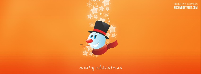 Merry Christmas Snowman Facebook Cover