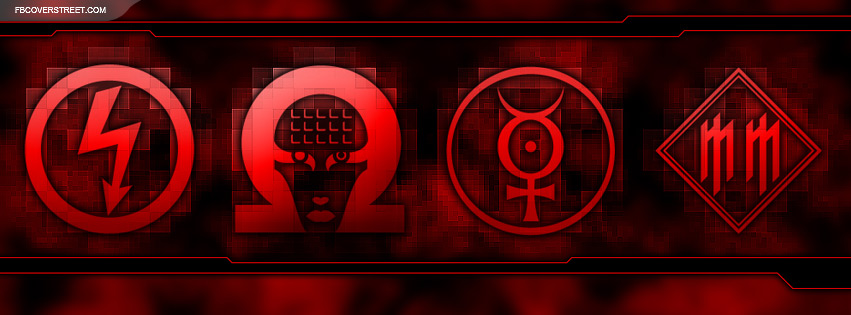 Marilyn Manson Logos Facebook Cover