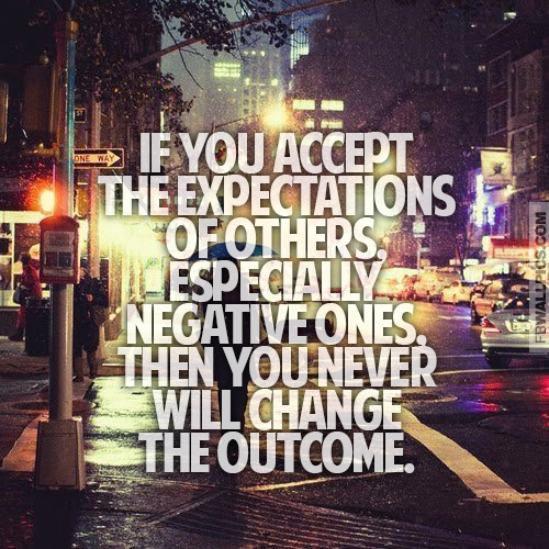 Accepting Expectations Inspiring Quote Facebook picture