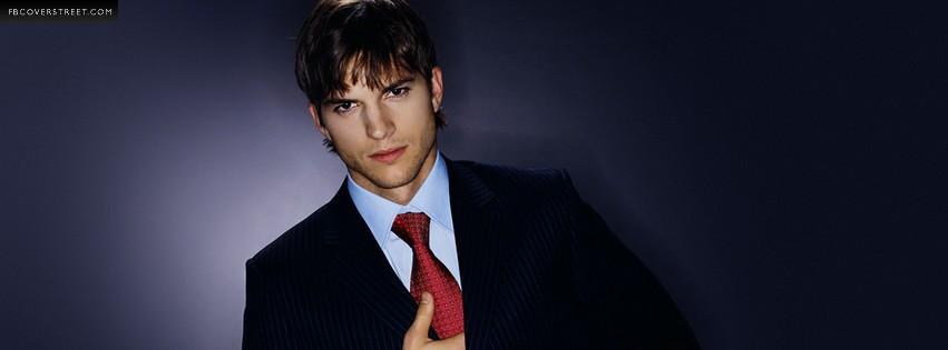 Ashton Kutcher Tuxedo Photograph Facebook Cover