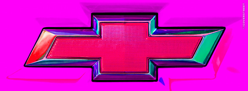 Chevy Emblem Pink  Facebook cover