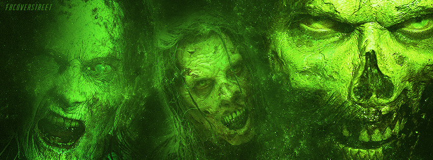 The Walking Dead Season 5 Zombies Green Facebook cover