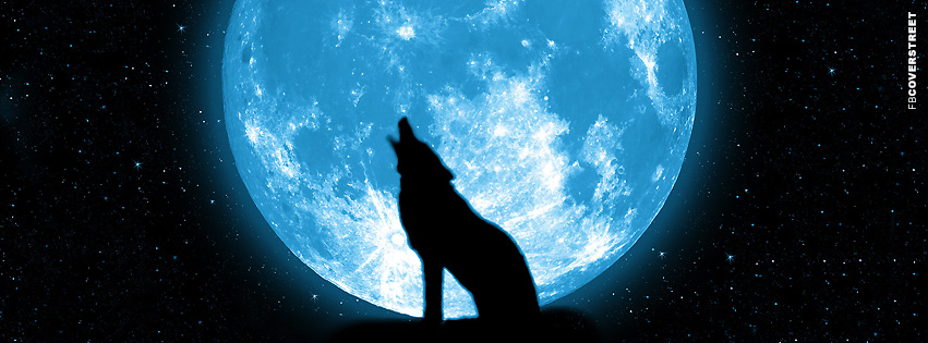 Wolf Howling Moon Artwork  Facebook Cover