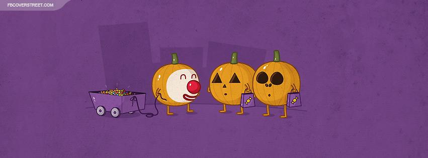 Cute Pumpkins In Costumes Facebook Cover
