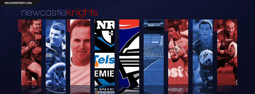 Newcastle Knights Player Collage Facebook cover