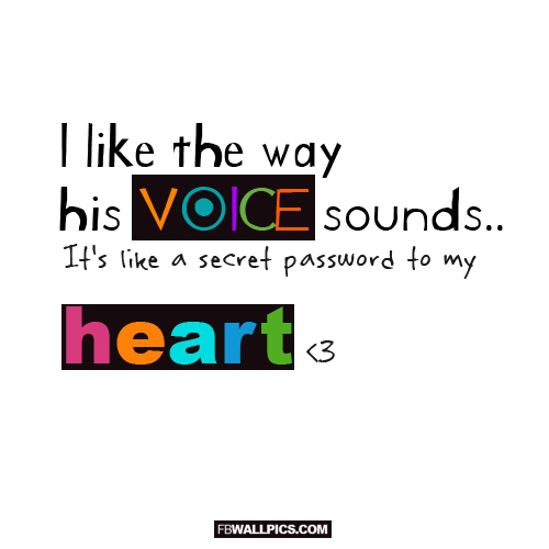 I Like The Way His Voice Sounds  Facebook Pic