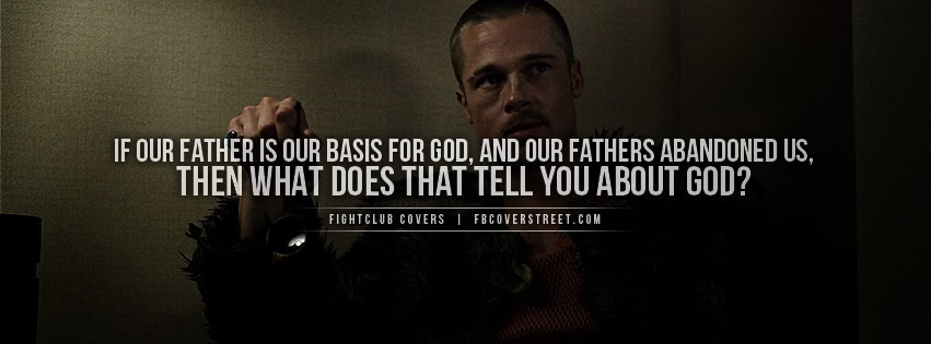 Fightclub God Quote Facebook Cover