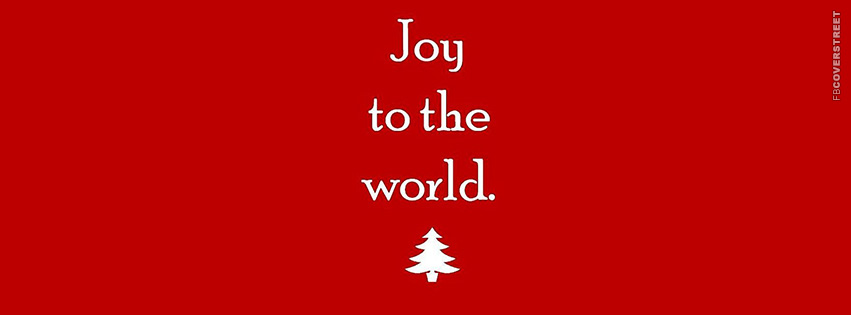 Joy To The World Typography  Facebook Cover