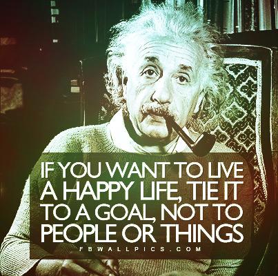 Albert Einstein Live A Happy Life Quote Facebook Pic