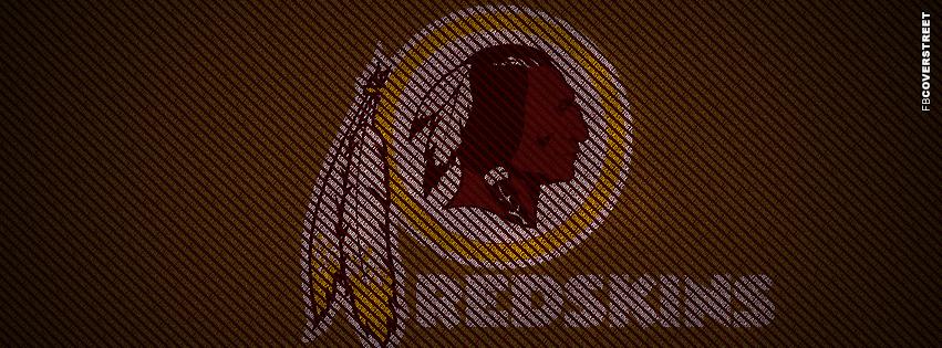 Washington Redskins Typography Logo Facebook cover