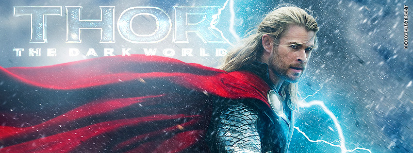 Thor The Dark World Chris Hemsworth  Facebook cover
