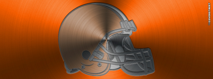 Cleveland Browns Aluminum Logo Facebook cover