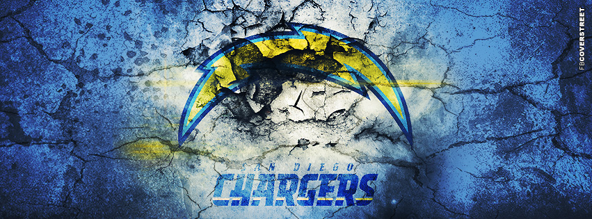 San Diego Chargers Grunged Logo  Facebook cover