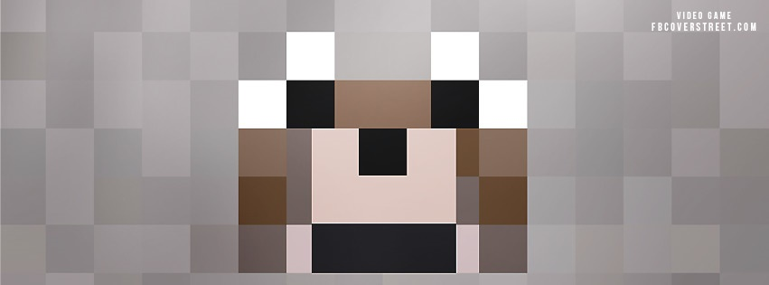 Minecraft Tamed Wolf Face Facebook Cover