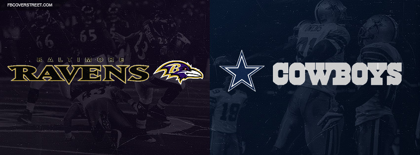 Baltimore Ravens and Dallas Cowboys Facebook cover