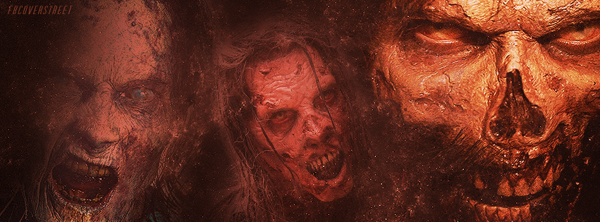 The Walking Dead Season 5 Zombies Orange Facebook Cover