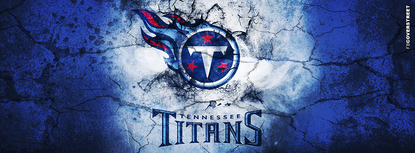 Tennessee Titans Grunged Logo  Facebook cover