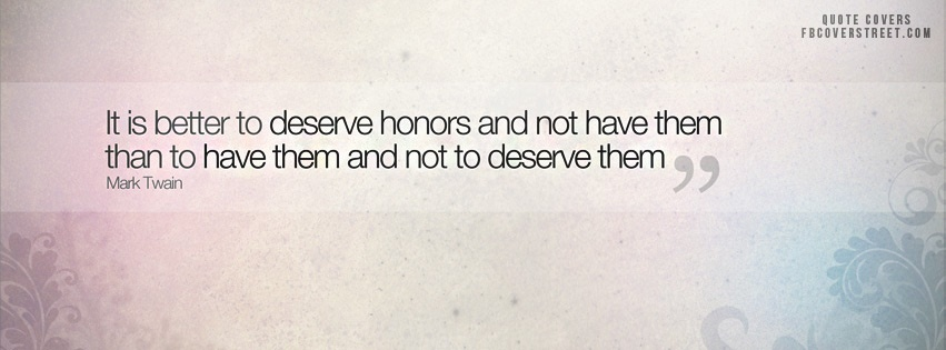 Deserve Honors Facebook Cover
