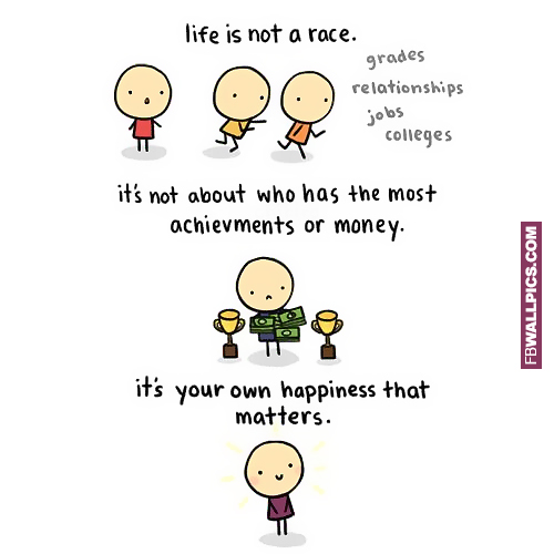 Life Is Not a Race Comic  Facebook picture